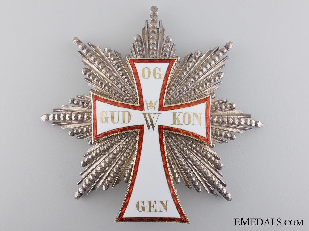 eMedals-Denmark.  An 1892 Danish Order of Dannebrog, Grand Cross Star by A. Michelsen