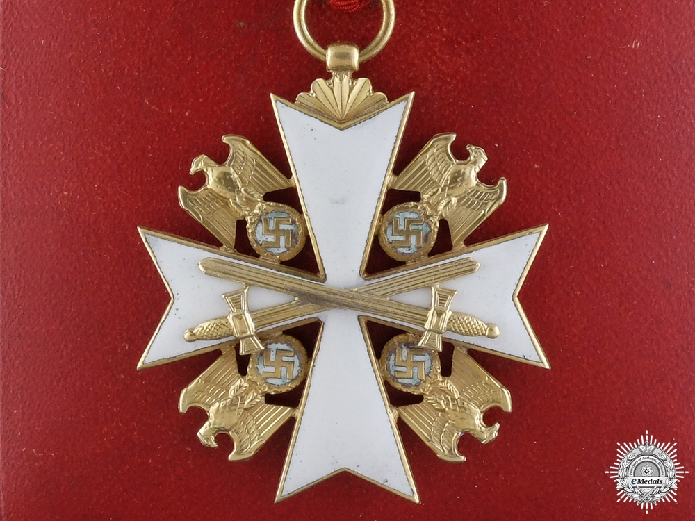 eMedals-A Cased German Eagle Order with Swords; Third Class Cross