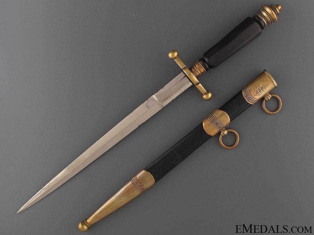 eMedals-A Fine 1910 Royal Danish Army Corps Dagger