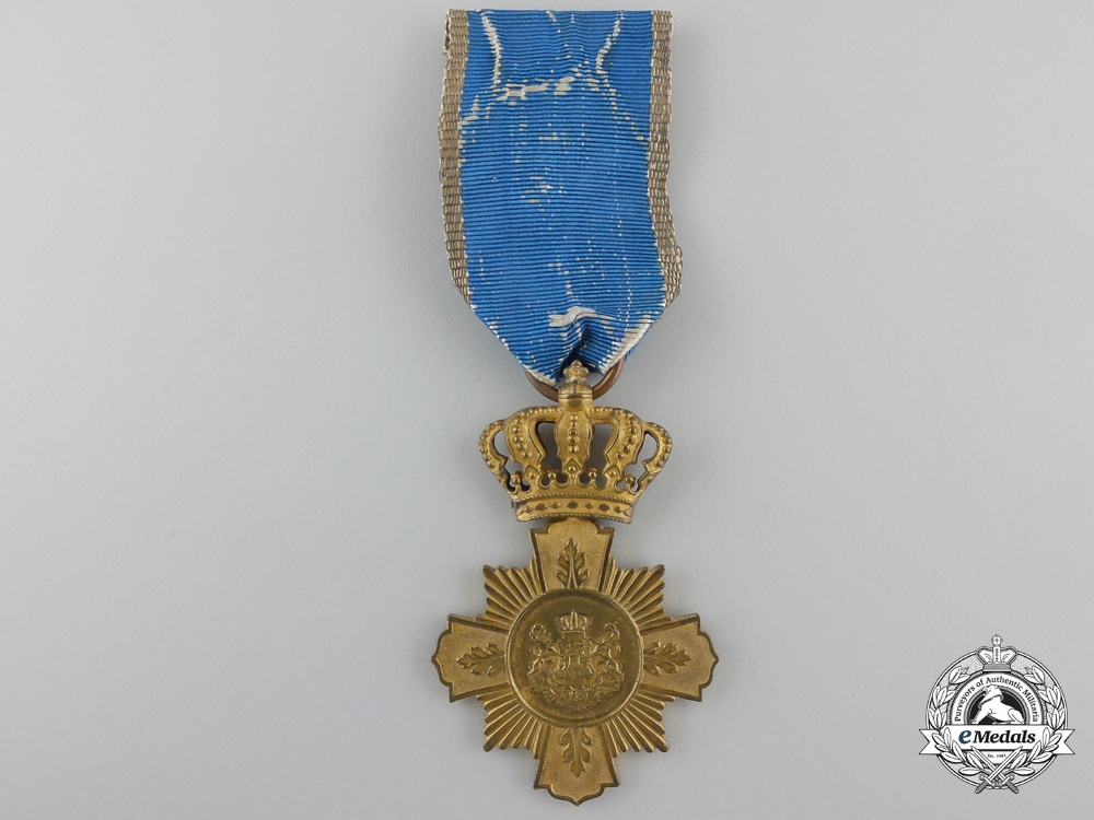 eMedals-A First Class Romanian Loyal Service Cross; 1st Type
