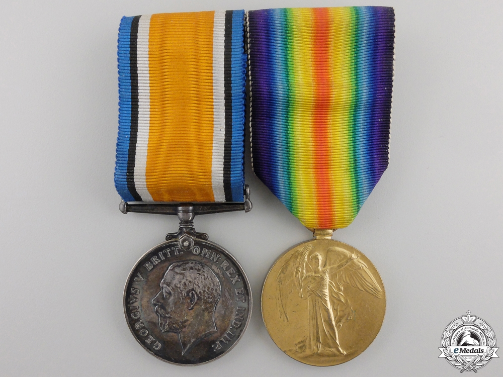 eMedals-A First War Medal Pair to the 10th Canadian Infantry Battalion