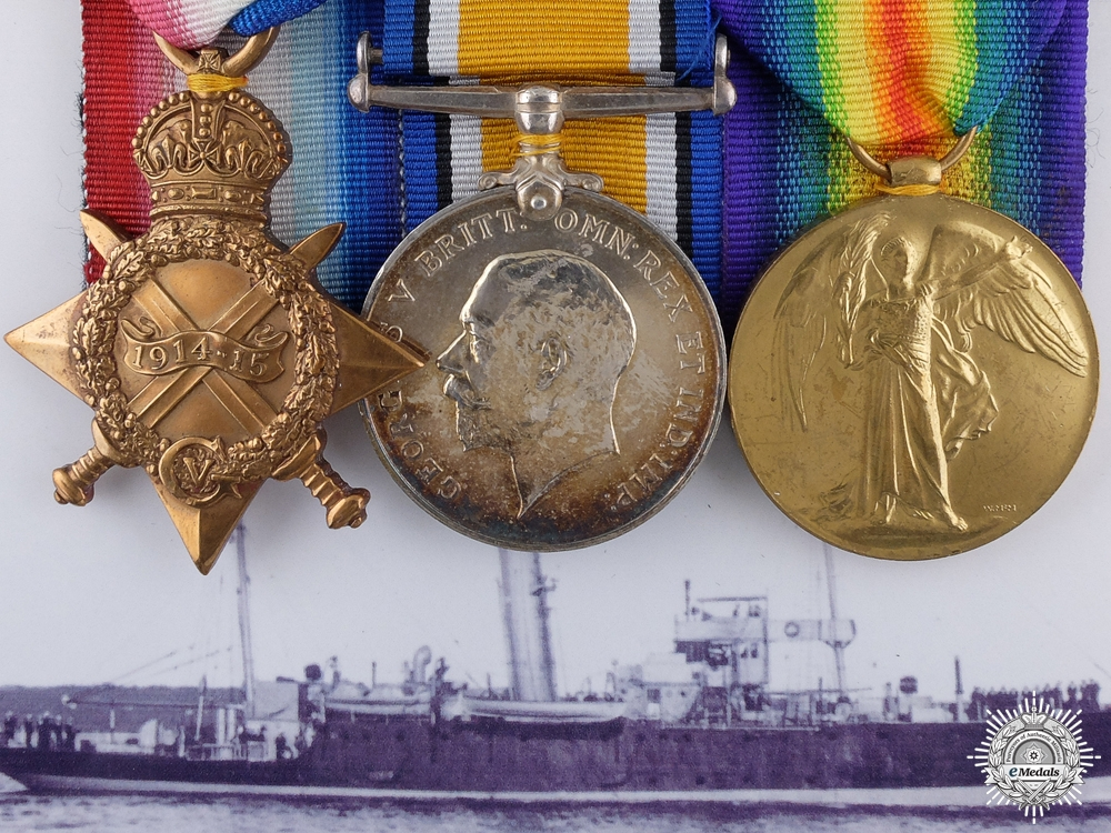 eMedals-A First War Royal Naval Group to Turkish Engine Room Artificer