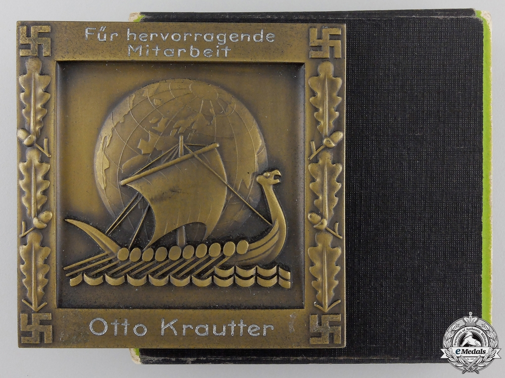 eMedals-A Kraft durch Freude Assistance Merit Medal to Otto Krautler with Case
