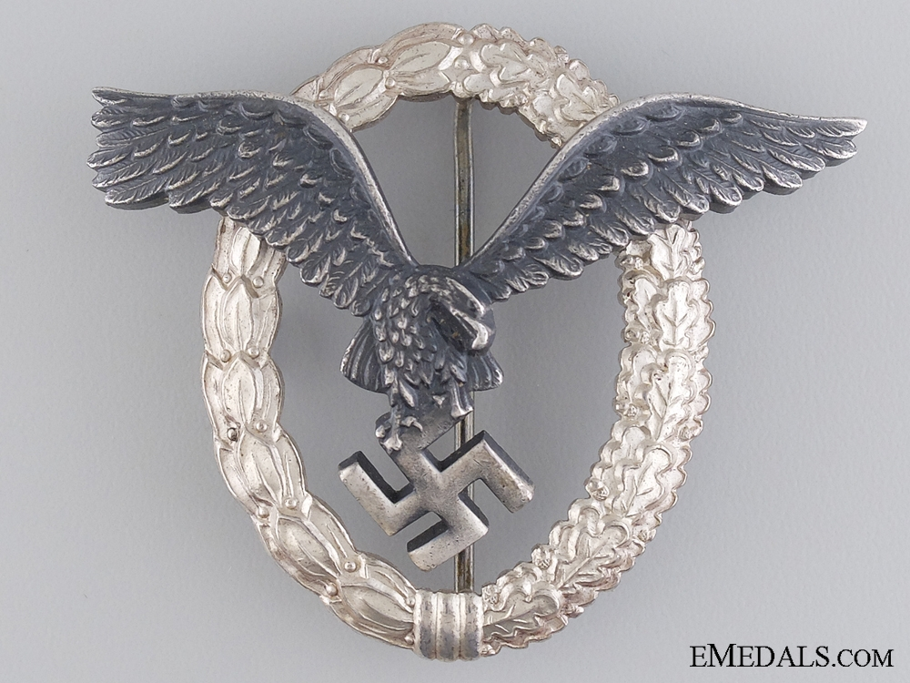 eMedals-A Luftwaffe Pilot's Badge by Berg & Nolte, Lüdenscheid