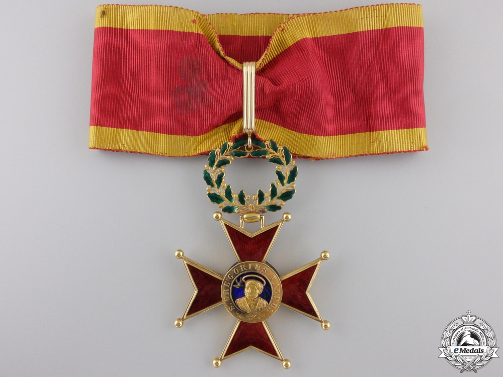 eMedals-An Order of St. Gregory; Commander's Cross in Gold c.1900