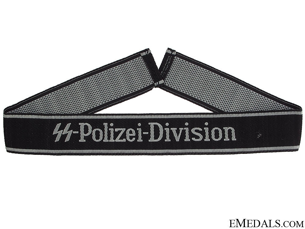 "eMedals-""BeVo""¢� Waffen SS Cufftitle ""SS-Polizei-Division"""