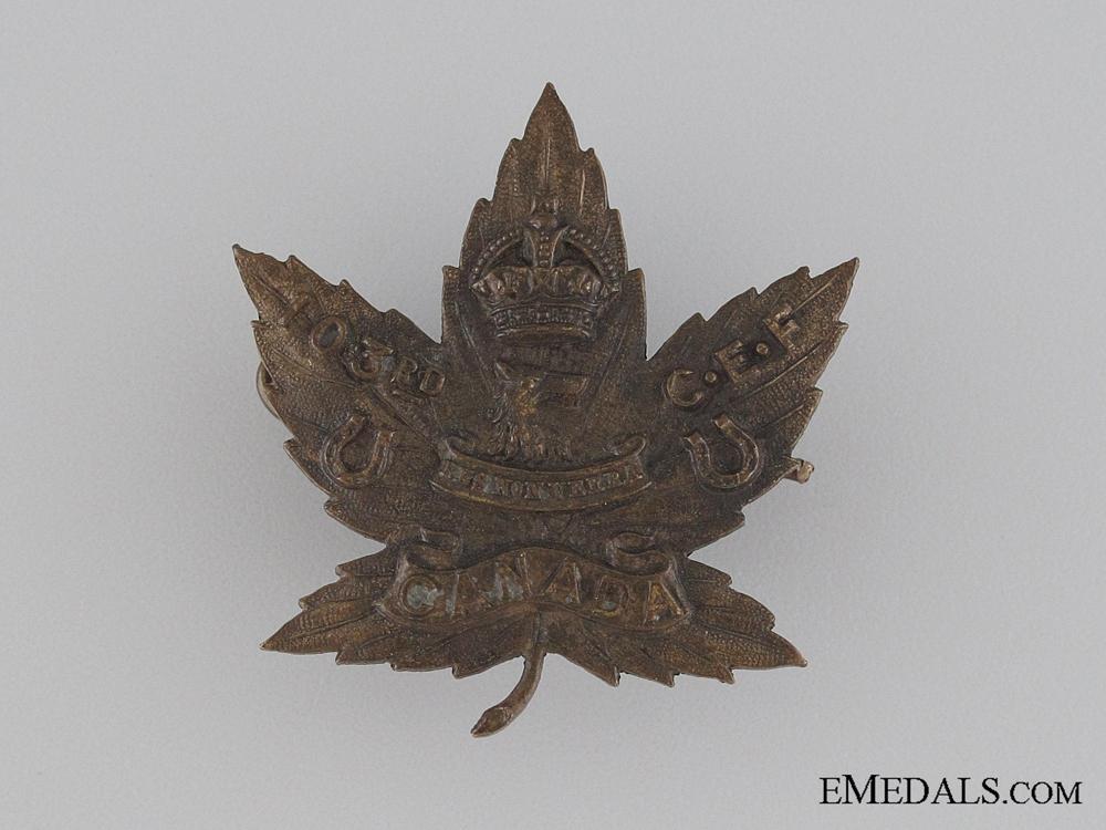 eMedals-Canada. WWI 103rd Infantry Battalion Collar Tab CEF