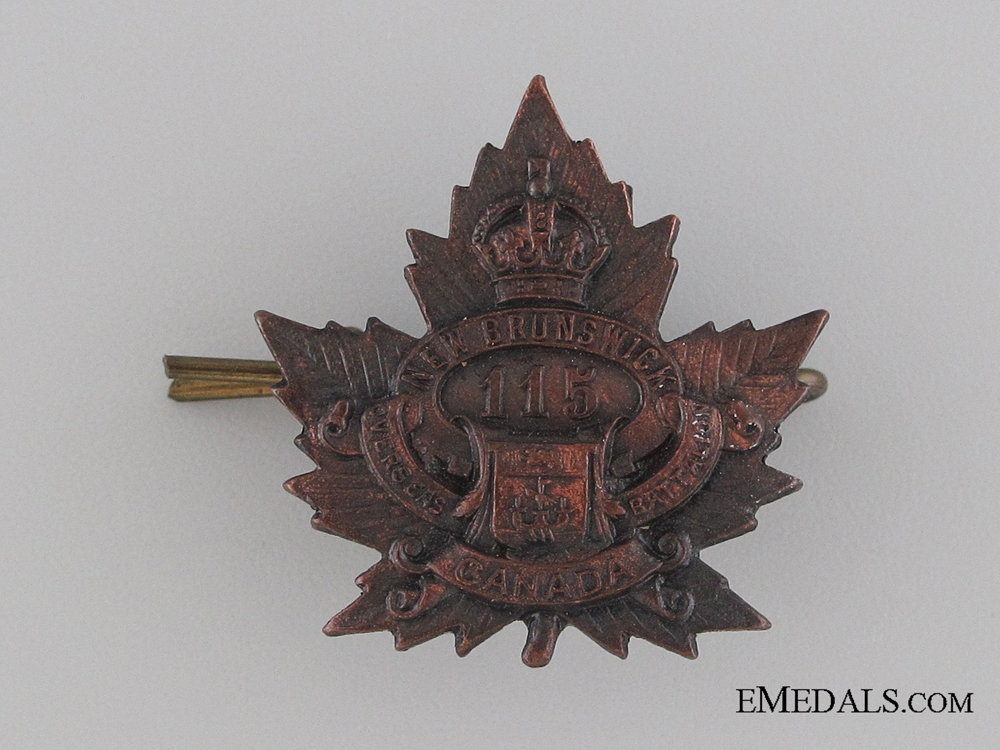 eMedals-Canada. WWI 115th Infantry Battalion Collar Tab CEF