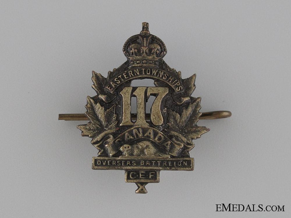 eMedals-Canada. WWI 117th Infantry Battalion Collar Tab CEF