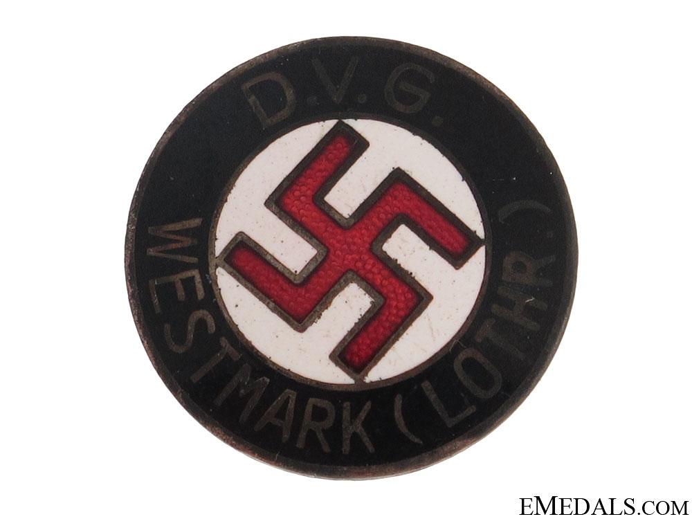 "eMedals-""DVG""¢� WESTMARK"" NSDAP Membership Badge"