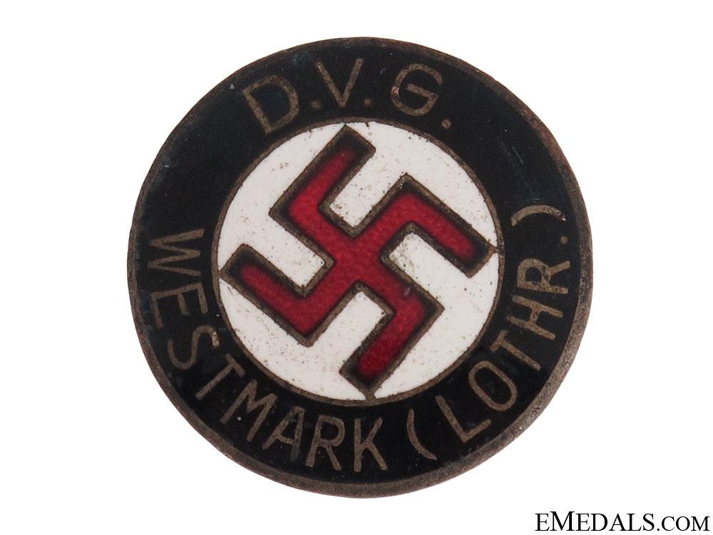 "eMedals-""DVG"" WESTMARK"" NSDAP Membership Badge"