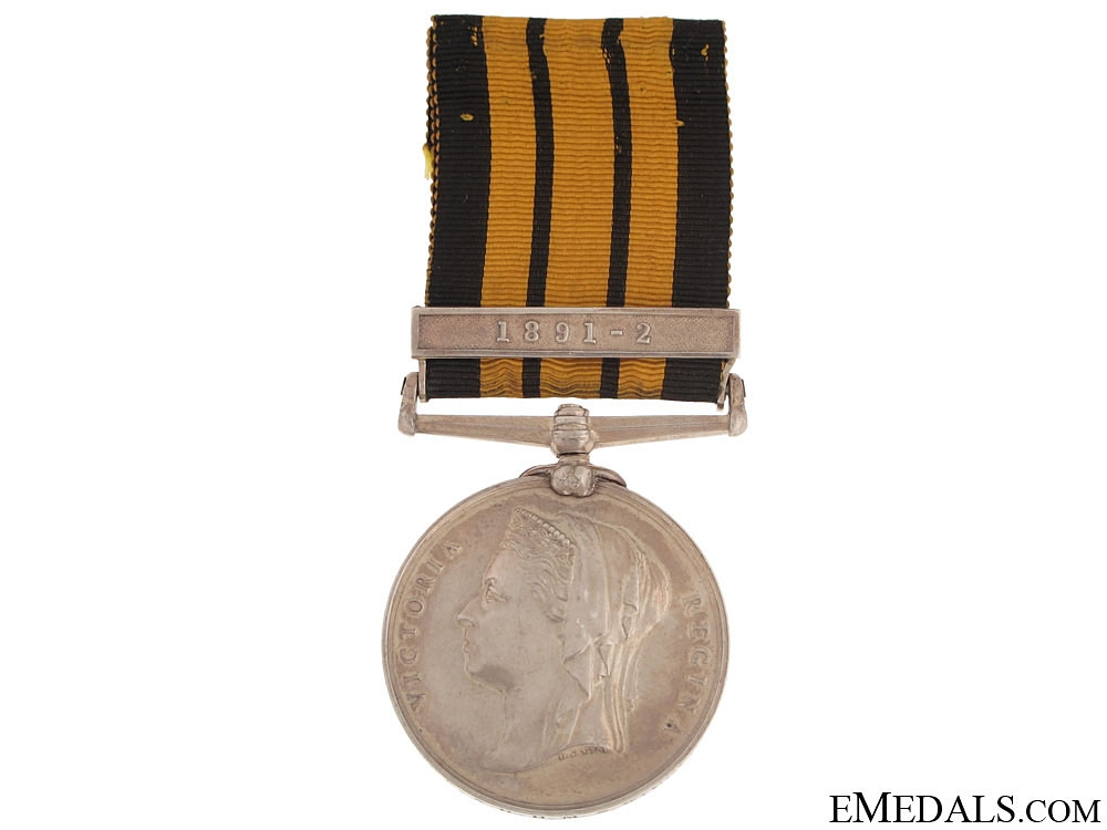 eMedals-East and West Africa Medal - 1891-2