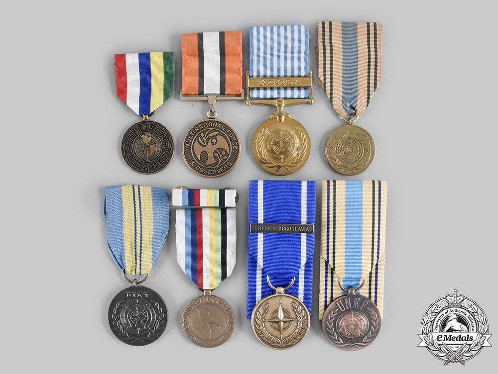 eMedals-International, United Nations. A Lot of Eight Service Medals