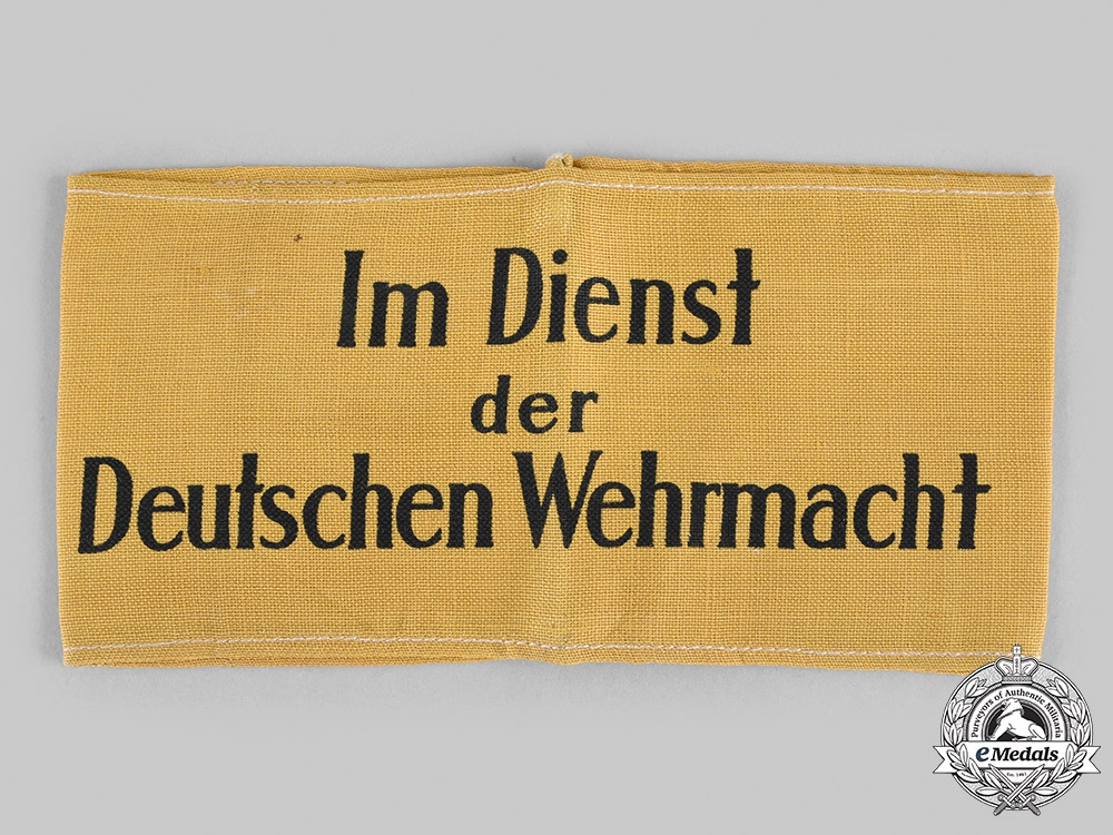 eMedals-Germany, Wehrmacht. A Civilian Auxiliary Armband