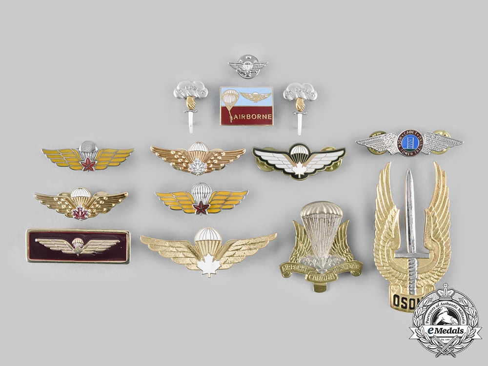 eMedals-Canada, Commonwealth. A Lot of Fourteen Airborne/Parachute Regiment Badges