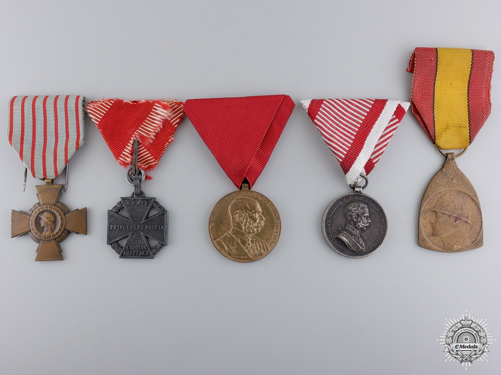 eMedals-Five First War European Medals and Awards