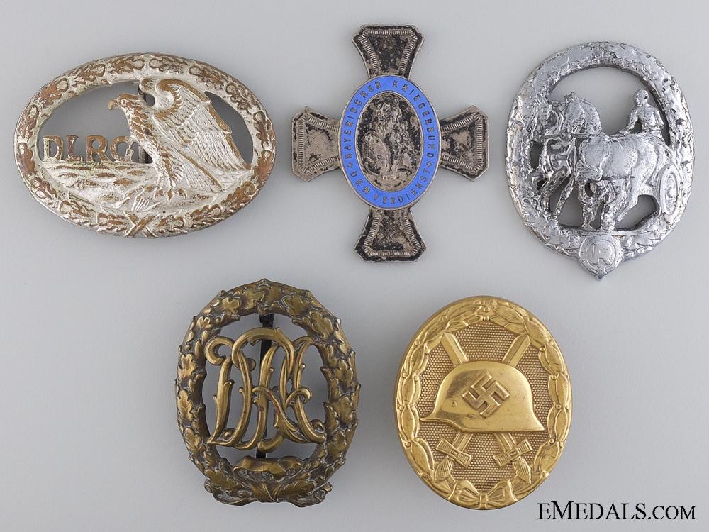 eMedals-Five German Badges & Awards