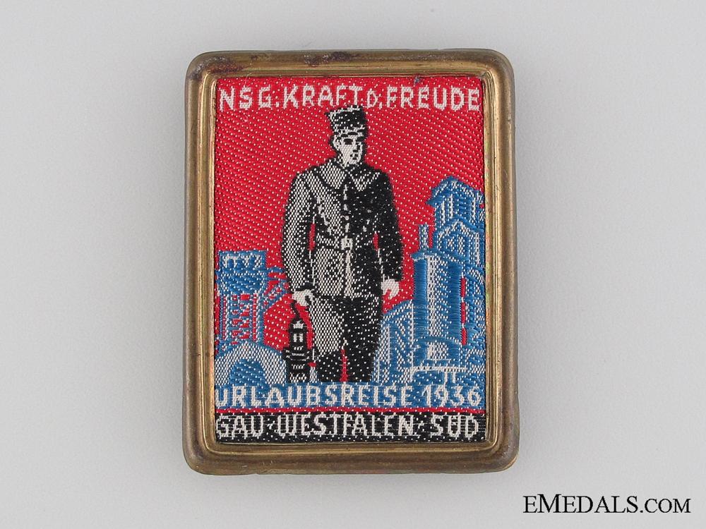 eMedals-Gau Westfalen Sud NSG Kraft durch Freude Tinnie, 1936