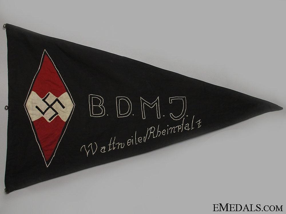 eMedals-A Scarce Early Pattern BDM/JM Wattweiler Rheinpfalz Untergau Pennant