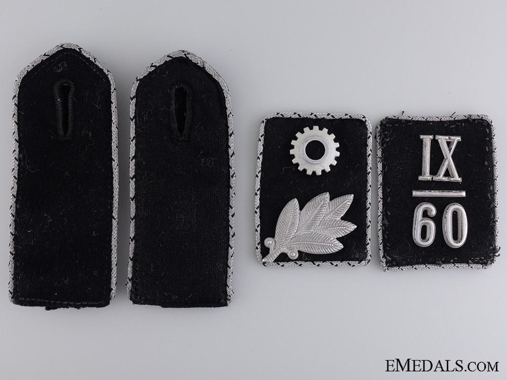 eMedals-IX/60 Scharführer TeNo Collar Tabs & Shoulder Board Insignia  Consign. #11