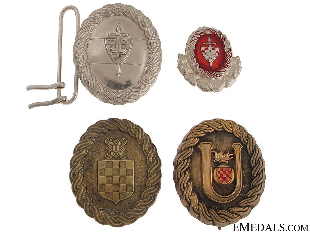 eMedals-Lot of Croatian Émigré Produced Items