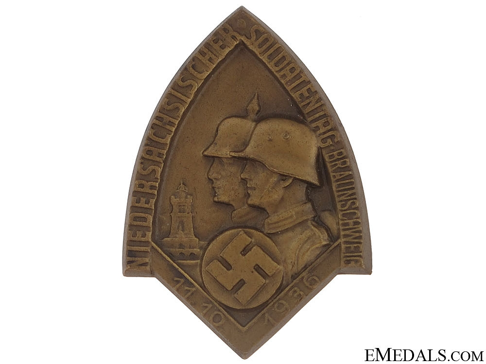 eMedals-Lower Saxony - Brunswick Veterans Rally Badge  - 1936