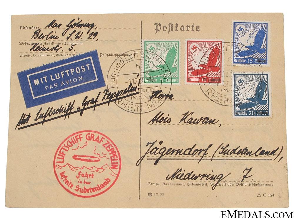 eMedals-LZ 127 Graf Zeppelin Postcard 1938