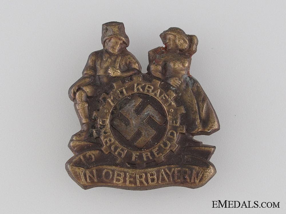 eMedals-Mit Kraft durch Freude in Upper Bavaria Tinnie, 1935