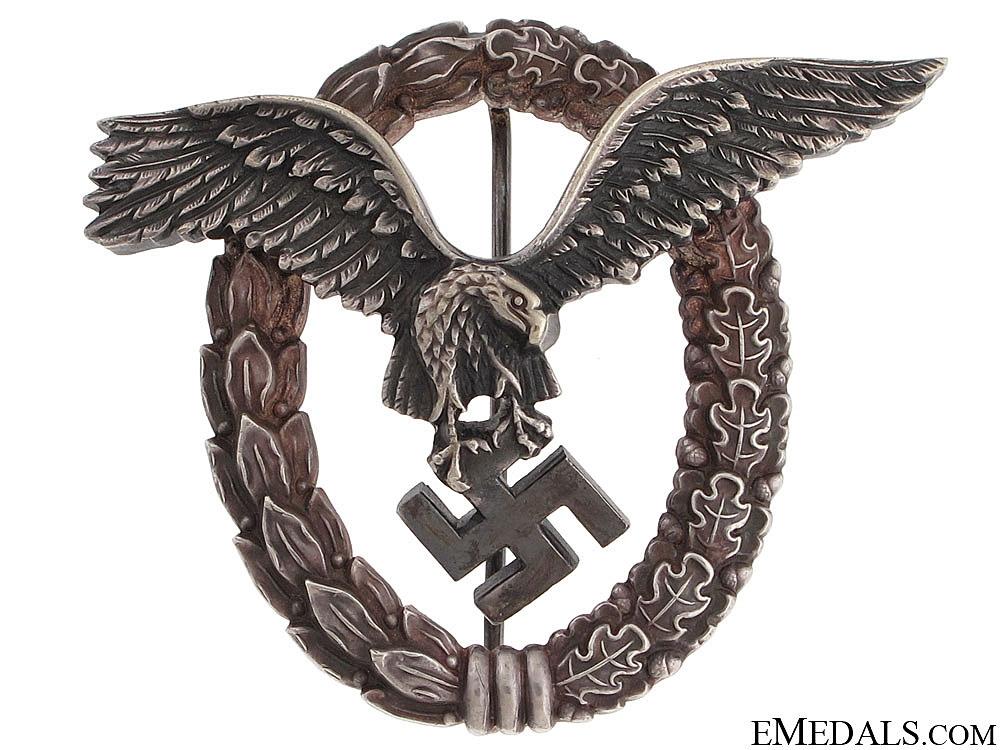 "eMedals-Pilot's Badge by Rare ""OM"" Maker"