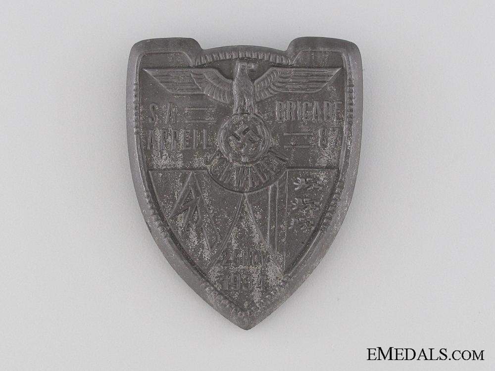 eMedals-SA Brigade 87 Gathering in Swabia Tinnie, November 25, 1934