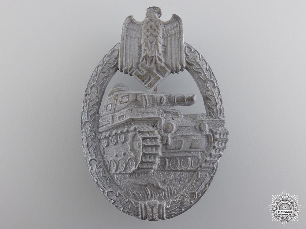eMedals-Silver Grade Tank Badge by Karl Wurster K.G.