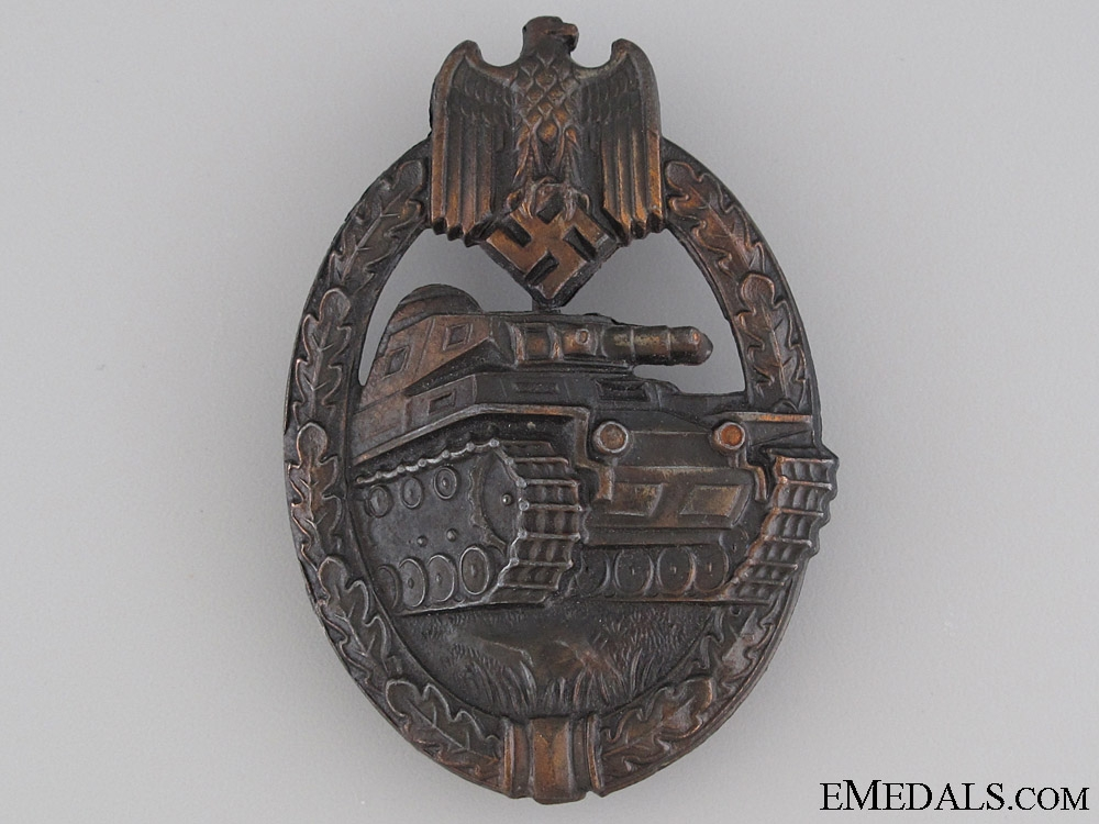 eMedals-Tank Badge - Bronze Grade & Marked