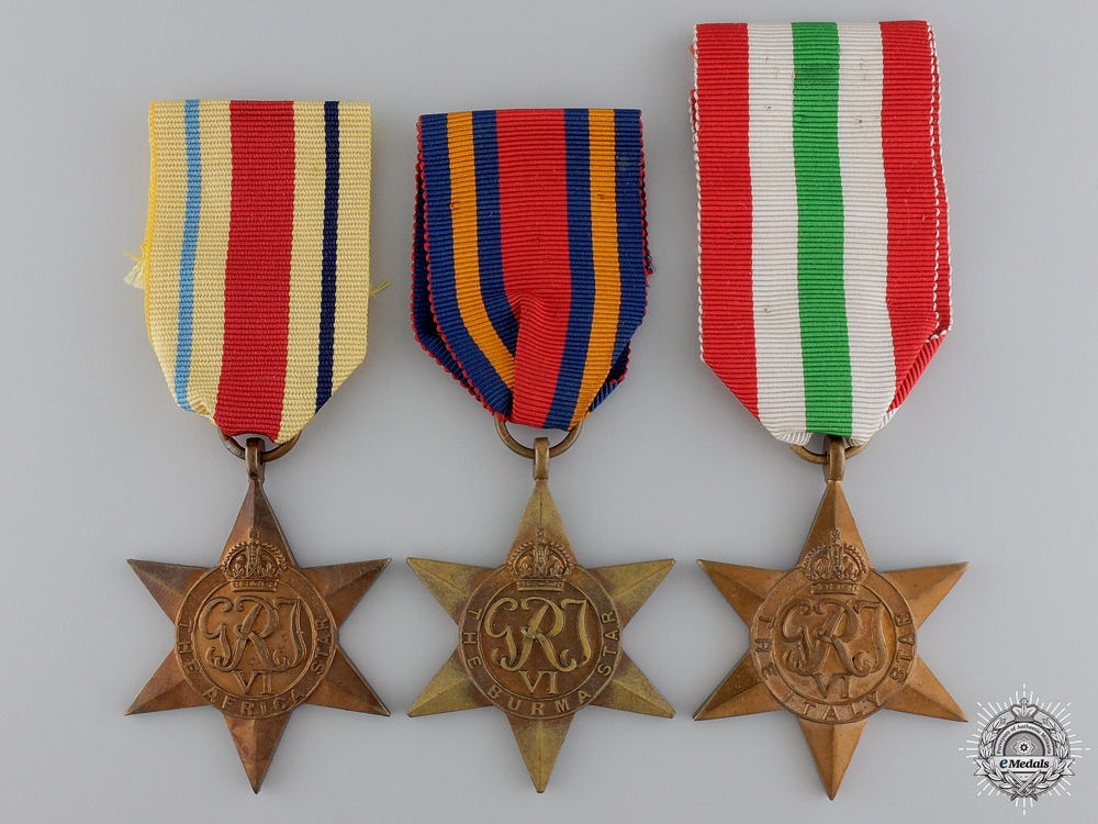 eMedals-Three Second War British Campaign Stars
