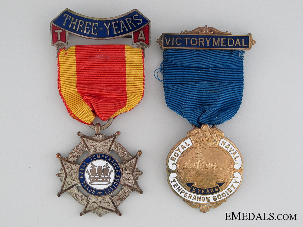 eMedals-Two British Temperance Medals