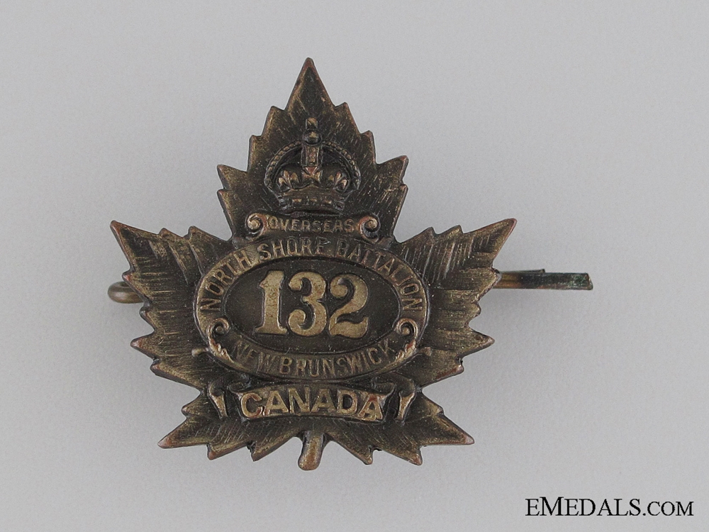 eMedals-WWI 132nd Infantry Battalion Collar Tab CEF