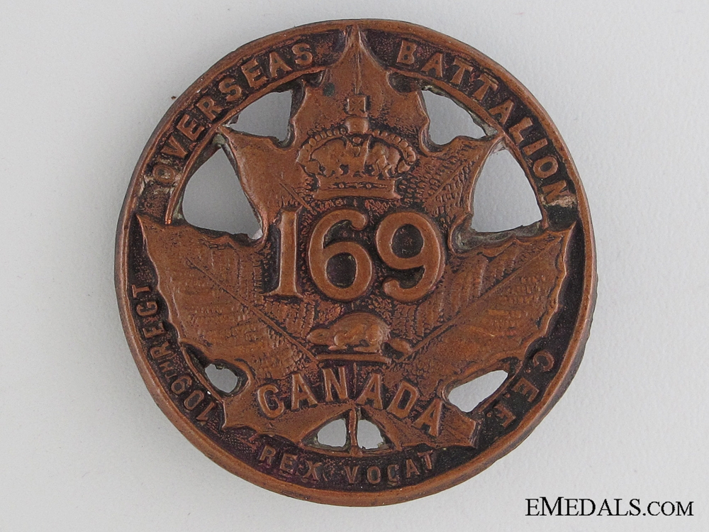 eMedals-WWI 169th Infantry Battalion Cap Badge CEF