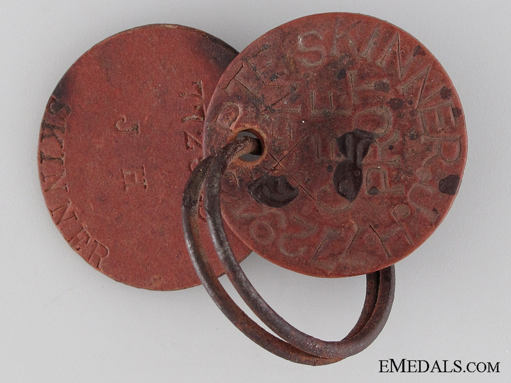 eMedals-WWI ID Tags to the 125th Infantry Battalion