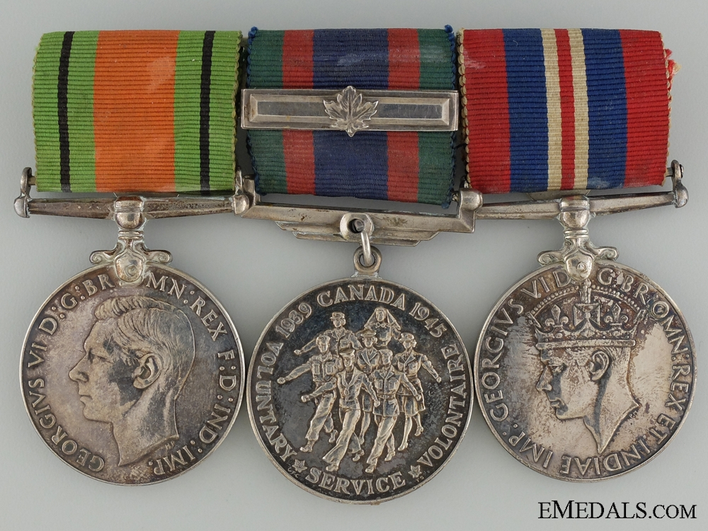 eMedals-WWII Canadian Group of Three Service Medals