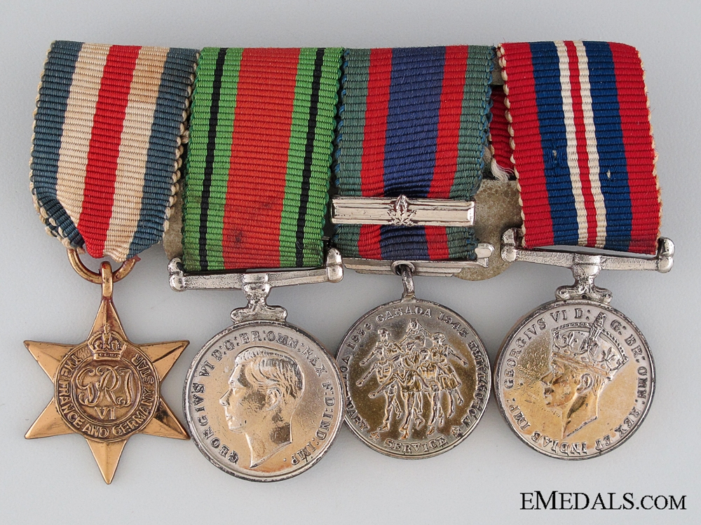 eMedals-WWII Canadian Miniature Group of Four