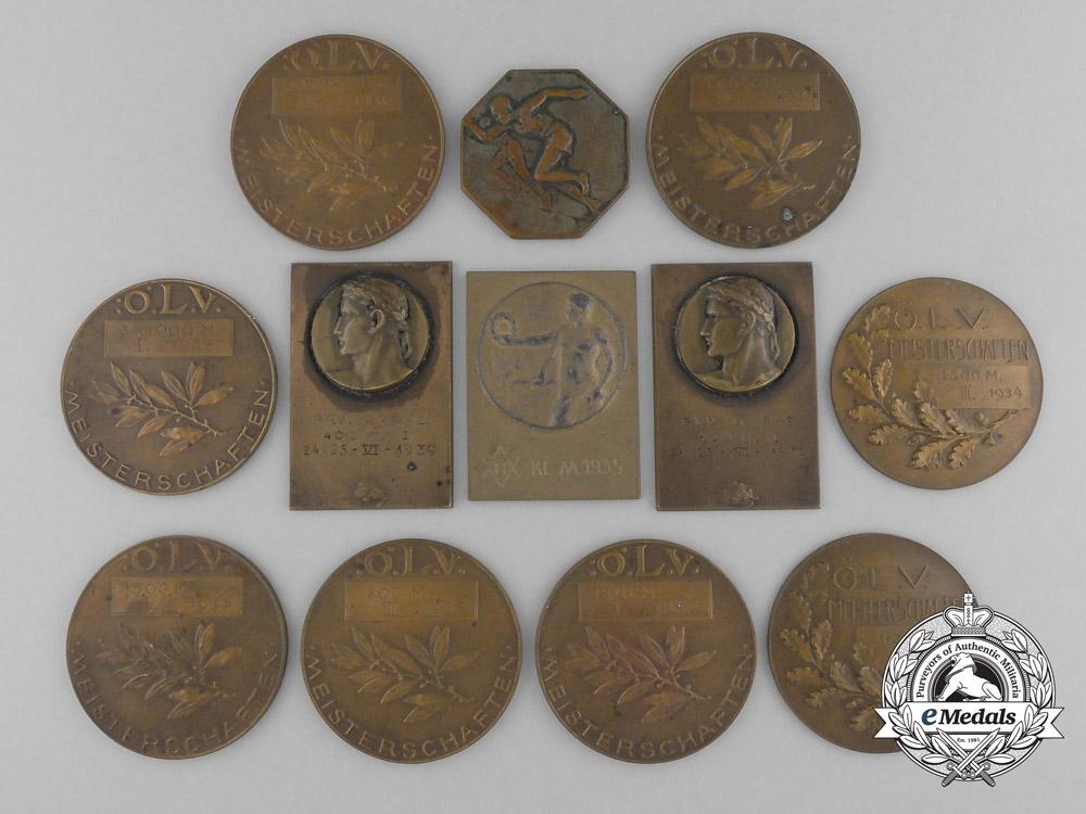 eMedals-Twelve Pre Second War Jewish Sport Medal & Awards