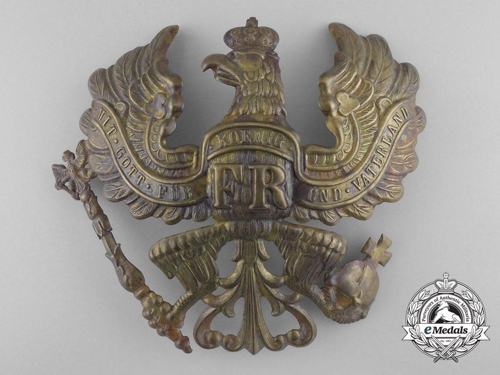 eMedals-A Prussian Infantry Regiment/Pioneer Battalion Pickelhaube Helmet Plate