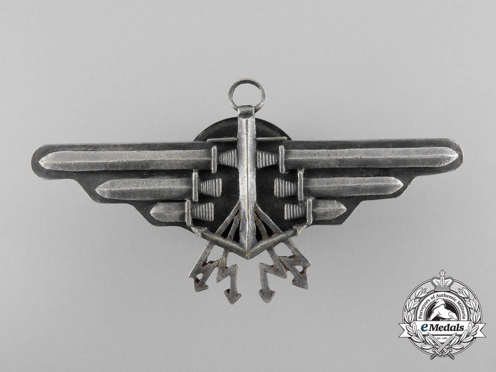 eMedals-Poland. A 1933 Issue Naval Aviation Observer's II  Class Qualification Badge