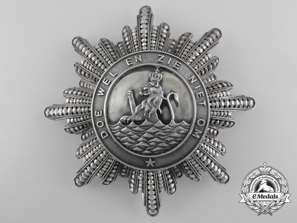eMedals-A Rare Order of the Union of Holland; Breast Star