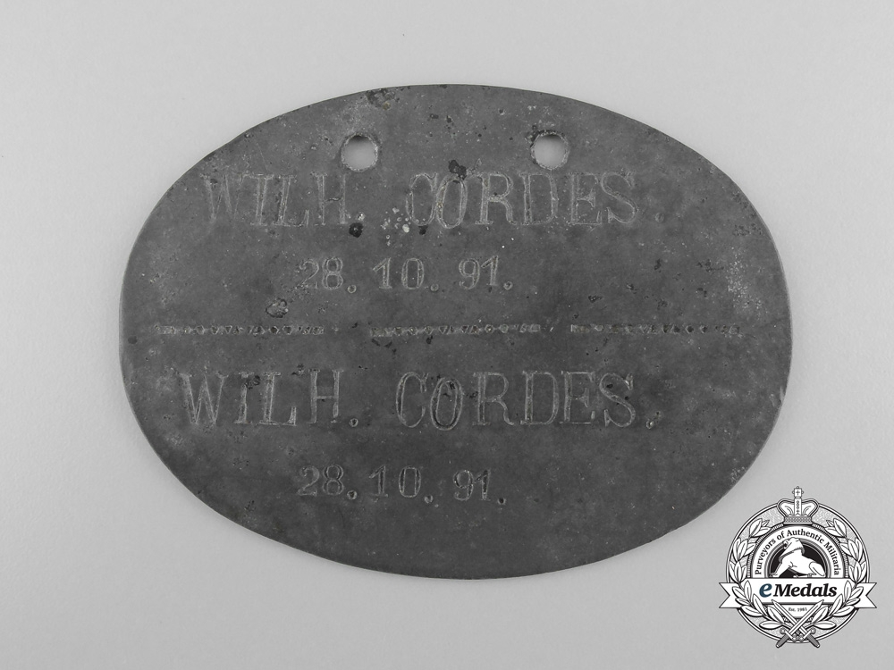 eMedals-A First War Identification Tag to the Reserve Infantry Regiment 230