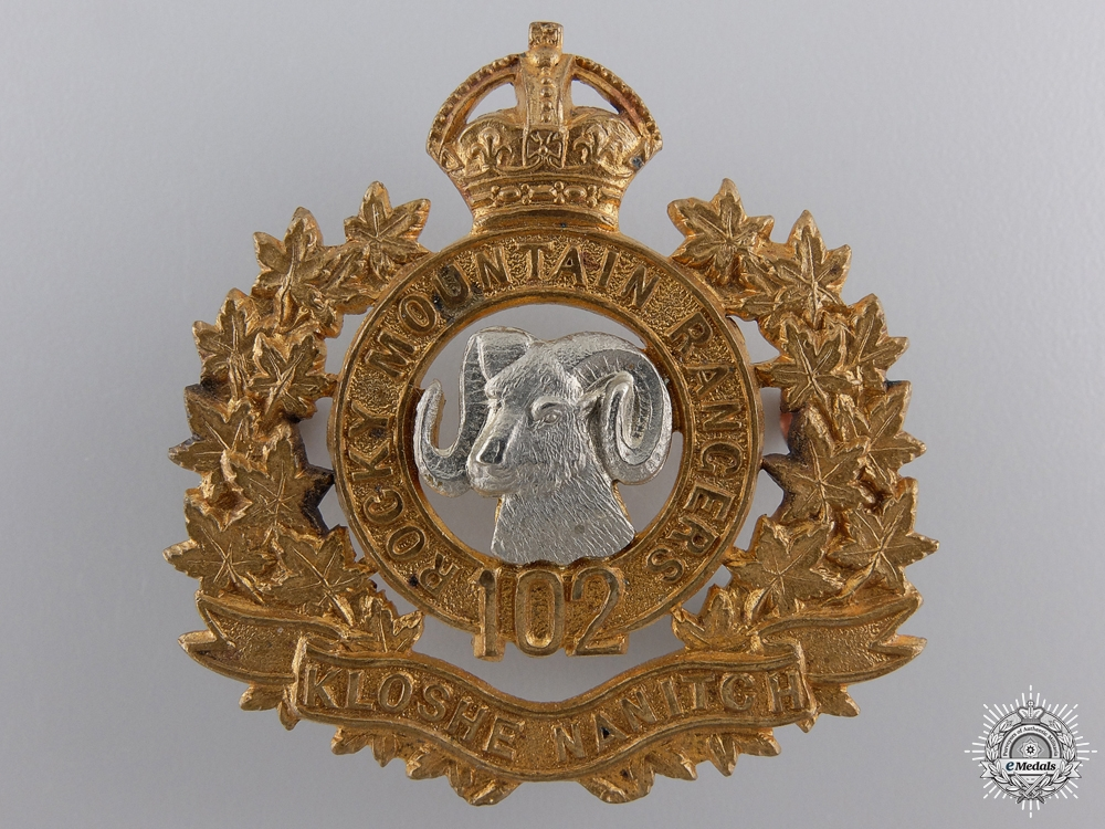 eMedals-A 102nd Rocky Mountain Rangers Cap Badge c.1910