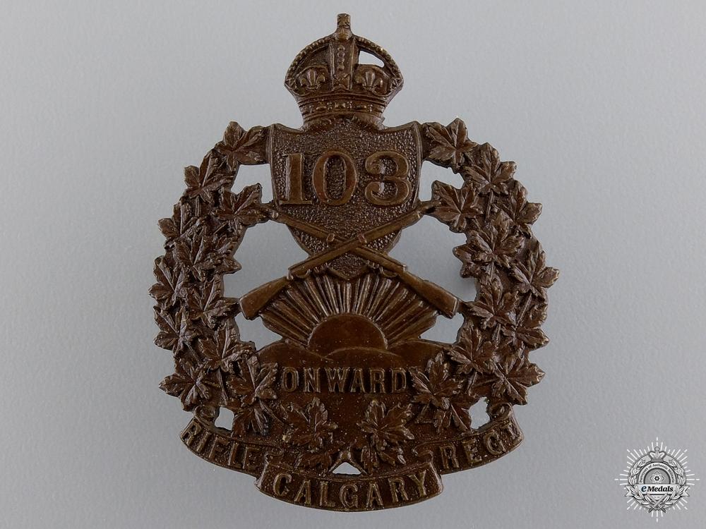 eMedals-A 103rd Calgary Rifles Regiment Cap Badge
