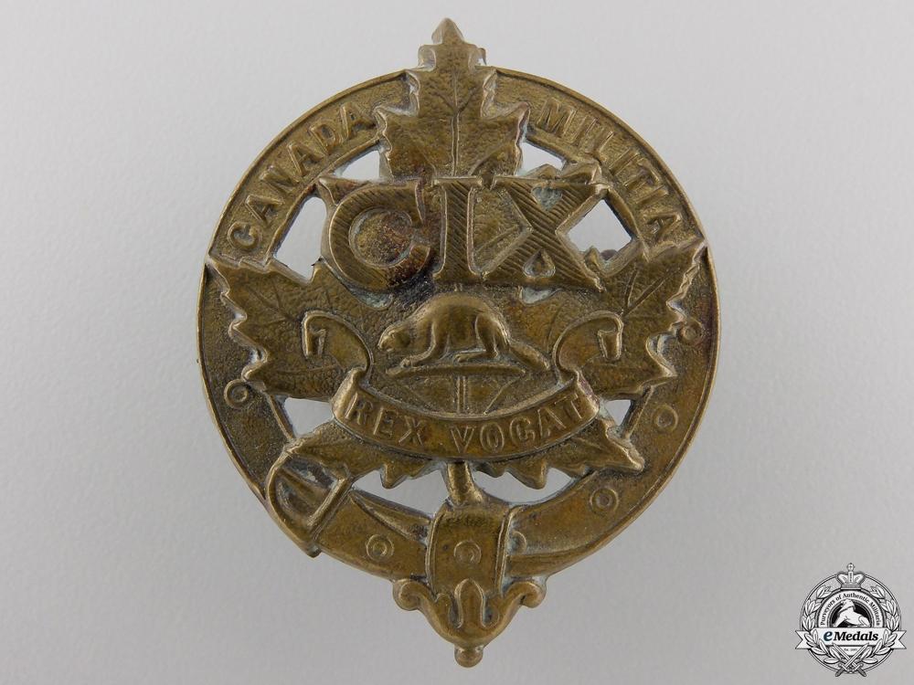 eMedals-A 109th Canadian Militia Cap Badge