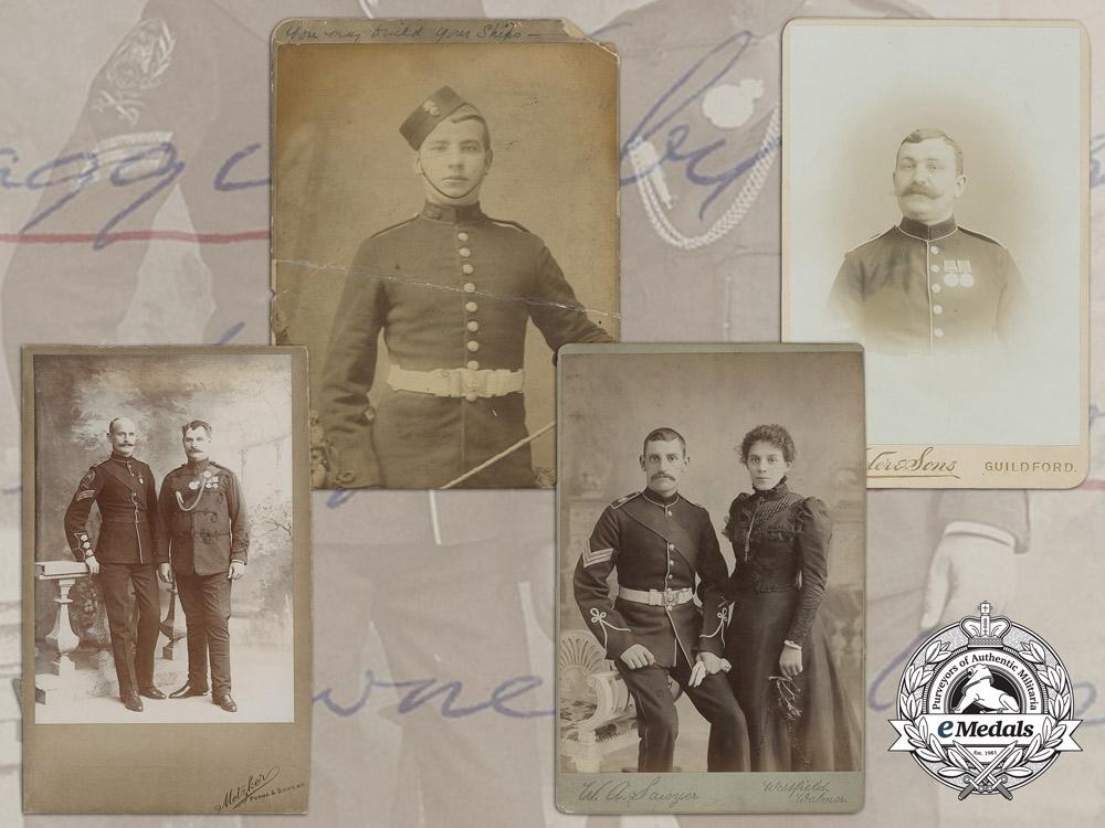 eMedals-Four Victorian Era British Military Studio Photographs