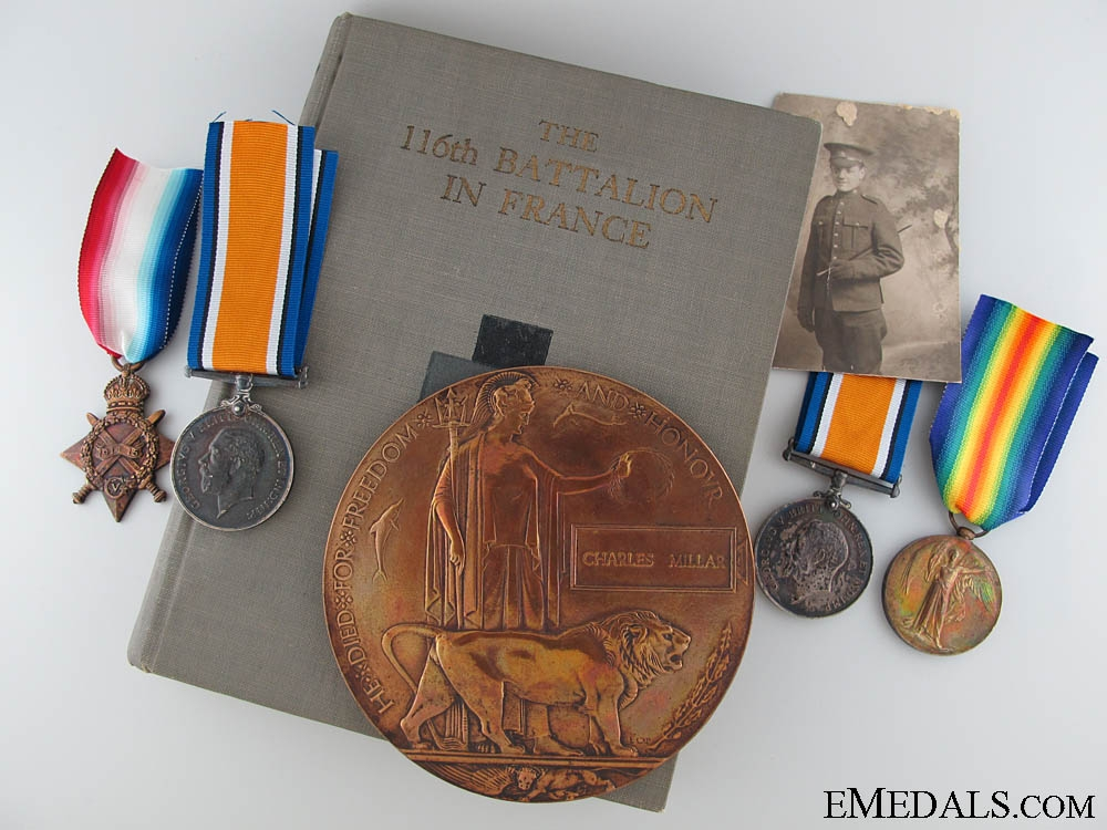 eMedals-A 116th Battalion Father & Son Memorial Group