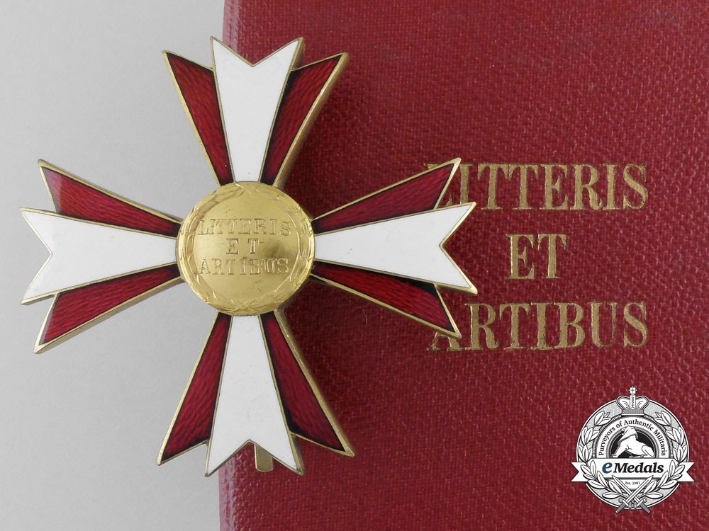 eMedals-An Austrian Decoration for Arts & Letters; Breast Star with Case